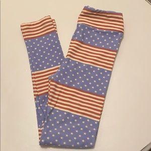 Never Worn Size L/XL Americana Leggings